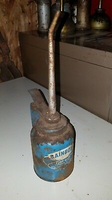 Vintage Eagle Rainbow Thumb Pump Oil Can Squirter [og]