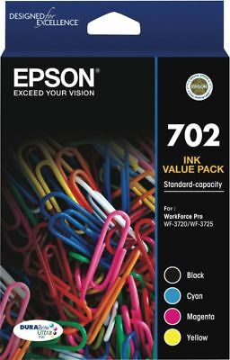 Epson 702 Genuine 4 Colour Ink Cartridge Value Pack  Brand New