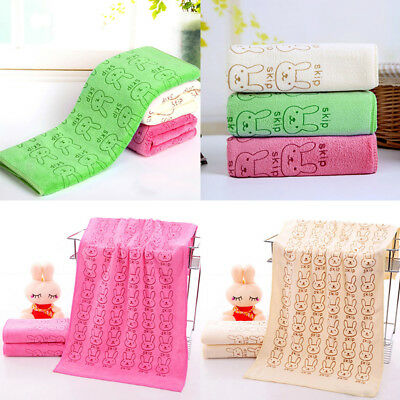 3Pcs Set Cute Rabbit Baby Infant Newborn Bath Towel Washcloth Bathing Cloth Soft