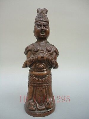 Rare H7.2'' Collection China Old Bronze Hand-made Buddha Officer person Statue