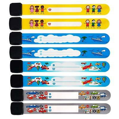 Emergency Bracelet For Child 8 Piece Safety Waterproof ID Name Wrist Bands