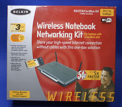 Belkin Wireless Notebook Networking Kit (WiFi CardBus & Router)
