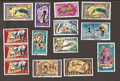 Nigeria. 1965-6 short set of animals includes 2 x redrawn 1971.  High values.