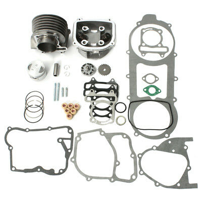 57mm Bore Cylinder Head Engine Rebuild Kit For 157QMJ GY6 150cc Chinese Scooter