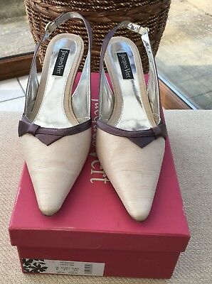 Stunning Mauve Beige Shoes JAQUES VERT Ascot Wedding Mother of the Bride 8 / 41