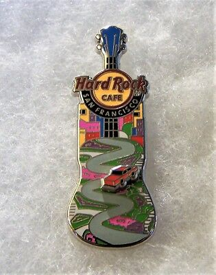 Hard Rock Cafe San Francisco Famous Lombard Street Guitar Red Car Pin # 90368