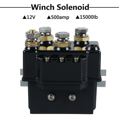 Heavy Duty Winch Relay Solenoid Contactor 1500lb 4x4 Truck Recovery 12V 500Amp