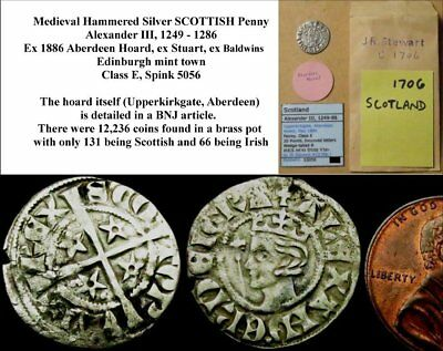 c2:  Alexander III Scottish Hammered Silver Penny.  Second coinage (WSC-6473)