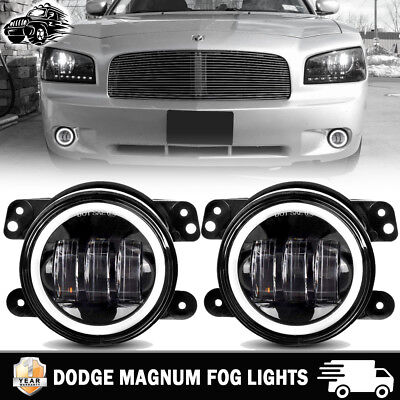 2xLED Halo Fog Light Lamp for 05-08 Dodge Magnum 06-10PT Cruiser 05 Chrysler 300