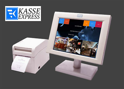 "Mini TOUCH KASSE GASTROKASSE fur BAR CAFE RESTAURANT 10""Touch Drucker Software"
