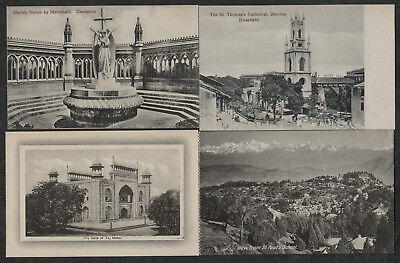 e2624)    4  x  EARLY  POSTCARDS: SCENES FROM INDIA