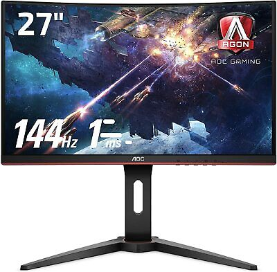 "AOC C27G1 27"" Full HD 1ms 144Hz FreeSync Curved Gaming Monitor"