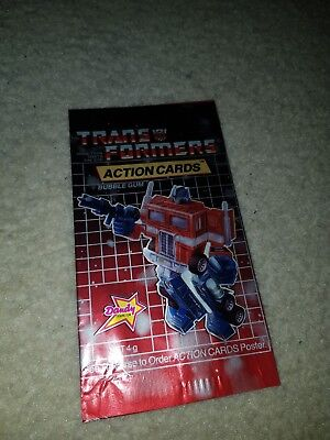 1985 HASBRO *TRANSFORMERS* Trading Card Wrapper *Dandy *Australian *rare