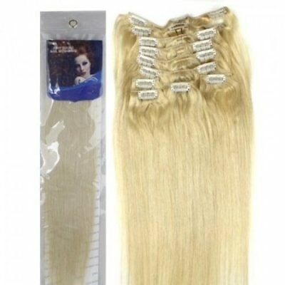 supermodel 20 inch BLEACH BLONDE (Col 60). Full Head Clip in Human Hair
