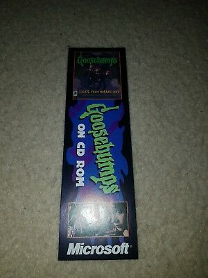 Goosebumps 1997 Bookmark *Microsoft *Parachute Press *rare *Australian *Promo