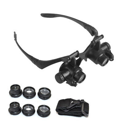 Binocular Loupes for Jewelry watch maintenance magnifier+4 sets of lenses