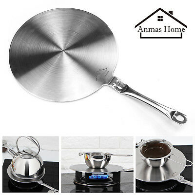 Stainless Steel Induction Cooktop Heat Disk Converter Cooker Disc Plate Pan