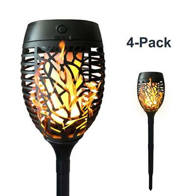 Petrala Solar Torch Lights Outdoor Dancing Flickering Flames USB Charging