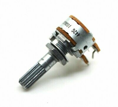 Japanese original ALPS 16 type Dual 100K A type Gear shaft Volume potentiometer