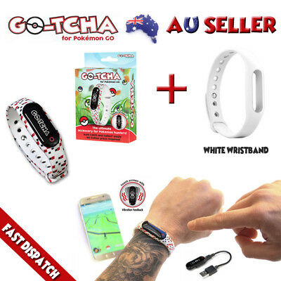 Go-Tcha For Pokemon Go Auto Catch & Spin +Extra White Wristband New Gotcha