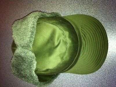 Swedish army winter cold weather hat lined ear flaps,NEW. FREE SHIPPING