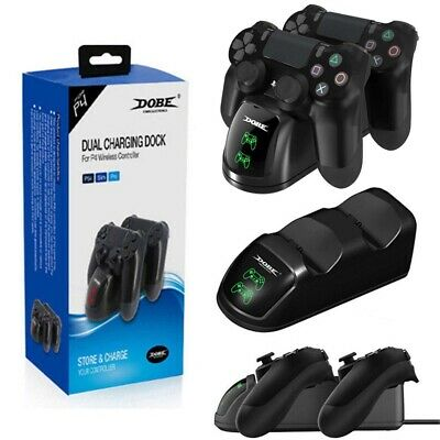 Dobe Sony PS4 Controller USB Dual Charger LED Station Dock Fast Charging Stand