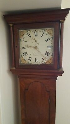 Georgian golden Oak Antique Longcase Grandfather Clock in excellent condition