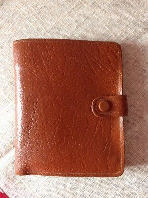 Vintage Genuine Tanned Leather Note Wallet