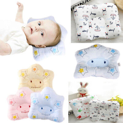 UK Infant Baby Anti-roll Pillow Flat Head Sleeping Positioner
