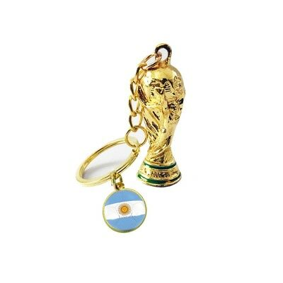 2018 Russia FIFA National Football Team Flag Trophy Keychain World Cup Souvenir