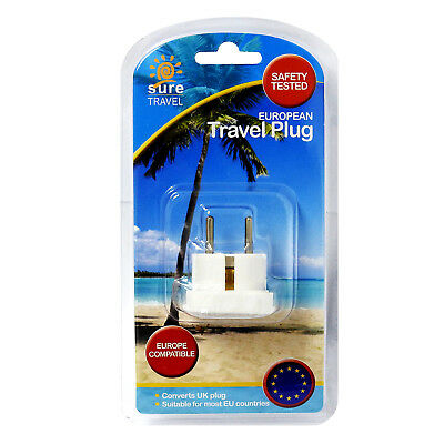 Sure Travel GB Reino Unido Viaje Enchufe Adaptador Poder Convertidor Simple Pack