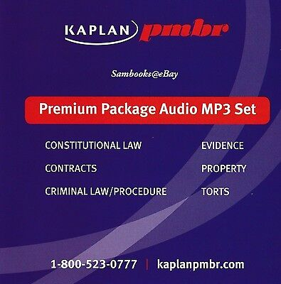 KAPLAN PMBR BAR Review Premium Package Audio Mp3 Cd Set ~~ Mbe Subjects