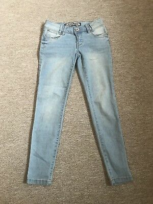 Girls New Look Light Wash Skinny Jeans Age 9