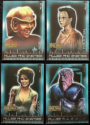 STAR TREK DEEP SPACE 9 - TRADING CARDS, 7 Cards, 'Allies & Enemies', B17-27,2003