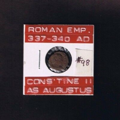 """Ancient Roman Empire coin of """"Constantine II"""", as Augustus, 337-340 AD...... AE4"""