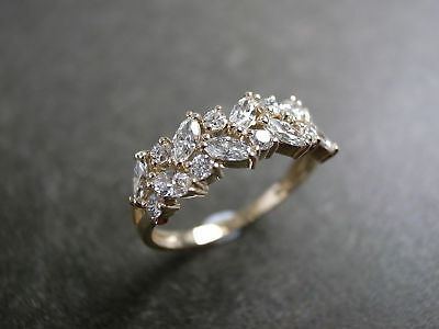 3 Carat Marquise Cut Engagement Ring In 14K Yellow Gold Over For Women's