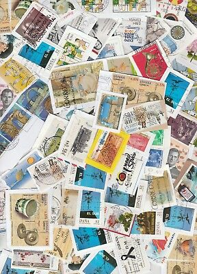 SPAIN: Collection of stamps from kiloware.