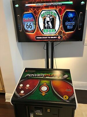 Power Putt Arcade Game with Monitor Stand and Sonly Flat Screen