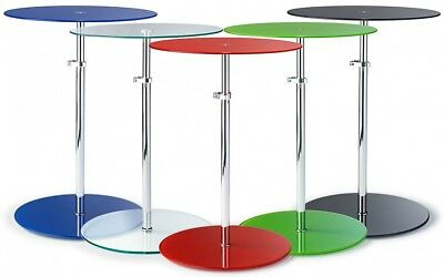 Kandi Glass Height Extending Side Table In 8 Colours!