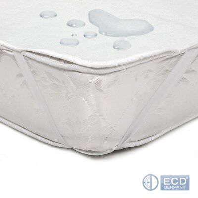 Bed mattress protector cover topper white cotton PUR selectable size breathable