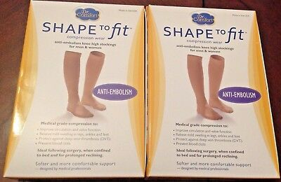 Dr. Comfort Anti-Embolism Knee-High Stockings - Beige XXXL LOT of 2