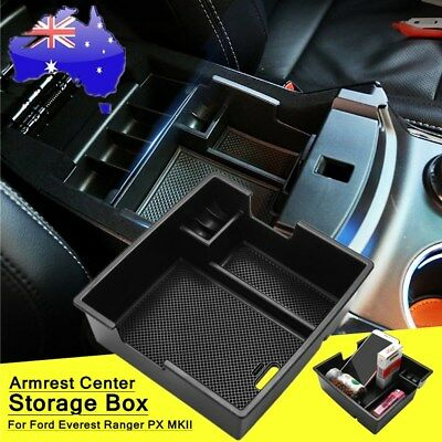 Armrest Center Console Storage Box Tray Fit For Ford Everest