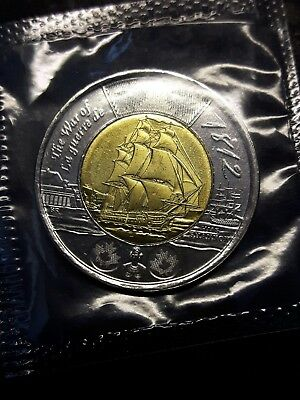 Error 2012 Canada 2 Dollars Extra Sail Variety Proof Like  Sealed UNC