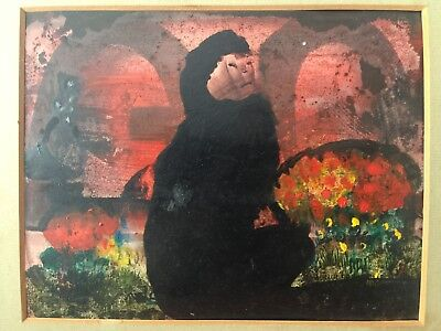 Charles Higgins Pic  ,  Original  1975 , Flower Seller ,