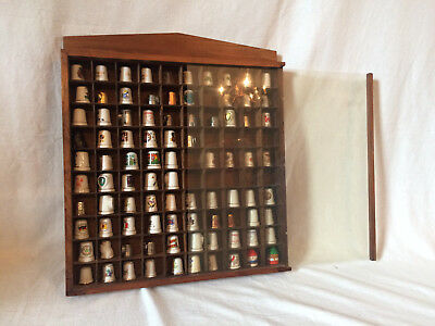 Vintage Large Lot Of Assorted Thimbles, Includes Display Case! 80+ pieces!