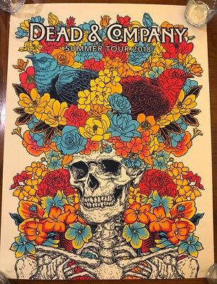 Dead & Company SIGNED 2018 VIP Poster + Commemorative Ticket + VIP Lanyard NR