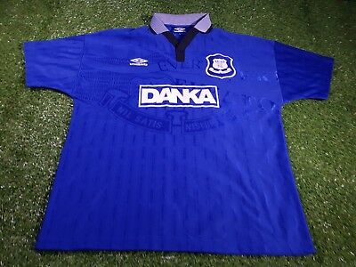 everton fc football large mans rare vintage 1995 epl umbro home jersey  england 8b17d16f5