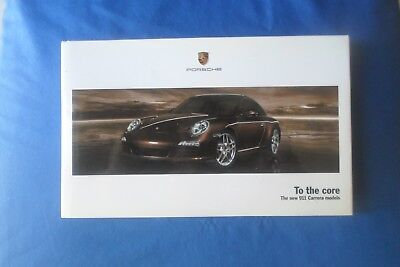 New 2008 Porsche 911 All Carrera Models To The Core Key Chain Hardcover Brochure
