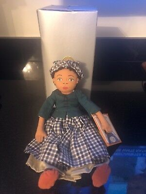 """1998 Colonial Williamsburg 6"""" Plush Cloth African American Doll EVE. Excellent"""