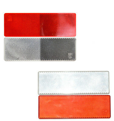 Red White Plastic Car Truck Article Warning Reflective Sticker Night Reflector